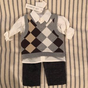 Baby 3 piece vest outfit